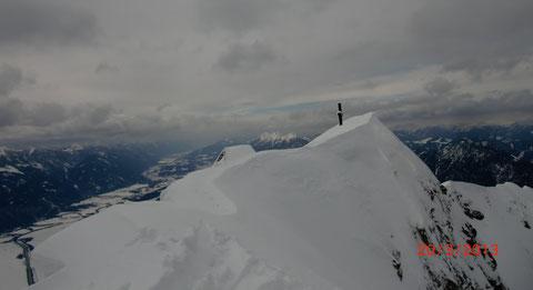 Dobratsch Gipfel, Winter, Berg, Skitour, Schneeschuh, Villacher Alpe