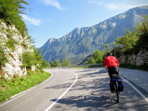 Auf der Straße von Kobarid nach Trnovo
