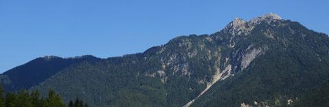 Luschariberg und Steinerner Jäger (Cima del Cacciatore) aus der Saisera