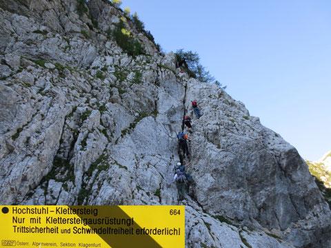 Hochstuhl-Klettersteig Nur mit Klettersteigausrüstung!