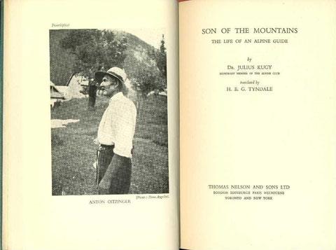 Dr. Julius Kugy -Anton Oitzinger - Ein Bergführerleben auf Englisch