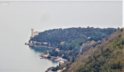 Strada Napoleonica, Vicentina, Triest, Meer, Miramare
