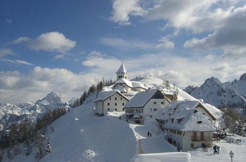 Monte Lussari, Luschariberg, Julische Alpen, Alpe Adria Trail