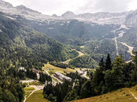 Der italienische Wintersport-Retortenort Sella Nevea - in den 1970er Jahren aus dem Boden gestampft