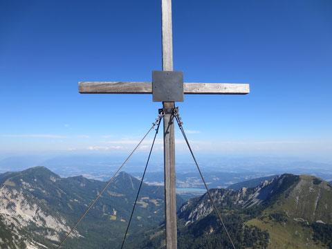 Blick nach Kärnten, im Hintergrund die Drau