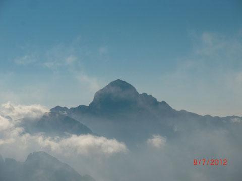 Blick vom Jalovec auf den Triglav 2.864m