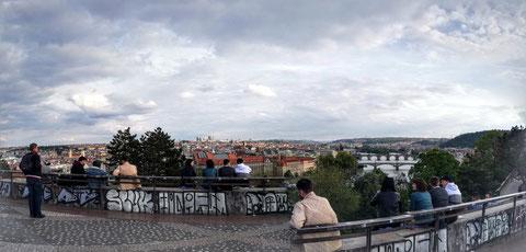 Panoramasicht vom Letná-Park über Prag