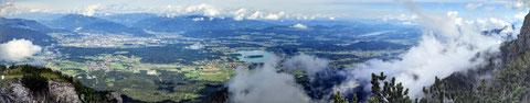 Schwarzkogel, Karawanken, Faaker See, Alpe Adria Trail