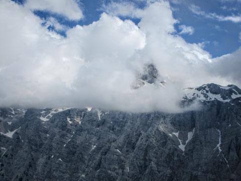 Triglav, Julische Alpen, höchster Berg, Wolken