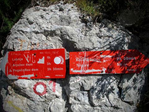 Luknja, Triglav Nationalpark, Trenta, Julische Alpen, Zadnjica, wandern