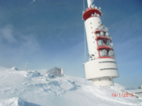 Schneesturm am Gipfel