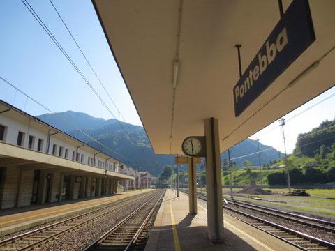 Der verwaiste Bahnhof von Pontebba