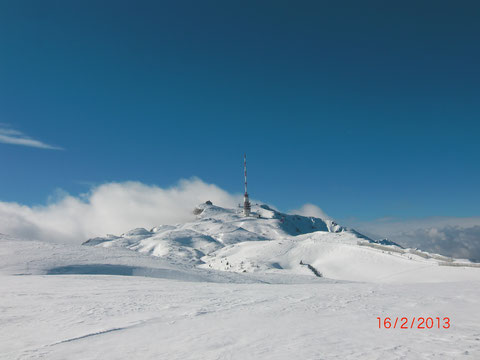 Dobratsch, Villacher Alpe, Winterwanderung, Schneeschuh, Skitour, Wanderweg, Alpenstraße, Winter, Gipfelhaus