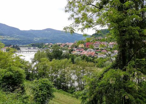 Blick zurück nach Dravograd