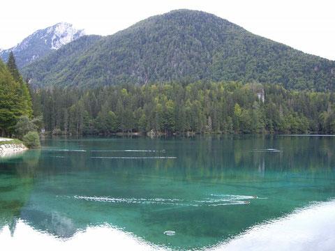 Weissenfelser See, Laghi di Fusine, Julische Alpen, Zacci Hütte, Wandern