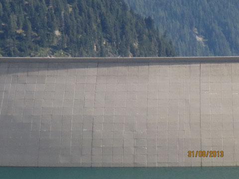 Die in den Jahren 1971-1978 aus 1,6 Mio. Kubikmeter Beton gegossene Kölbreinsperre