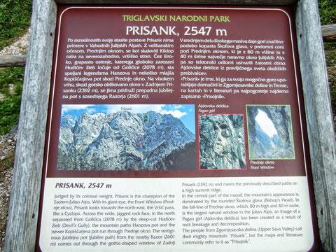 Prisank, Prisojnik, Fenster, Okno, Julische Alpen