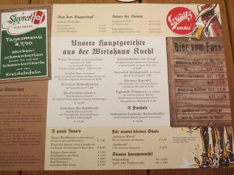 """Verdiente Mittagspause im urigen """"Steyrerhof"""" in St. Veit an der Glan"""