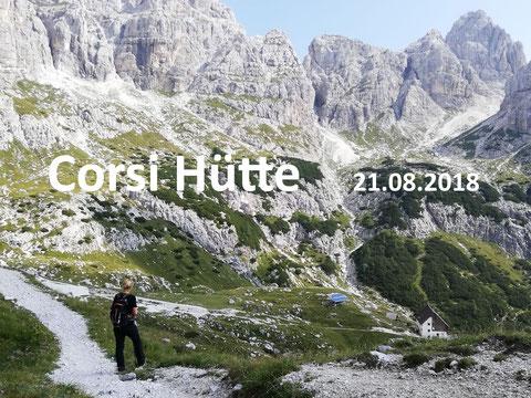 Rifugio Corsi Hütte, Wischberg, Sella Nevea, Julische Alpen