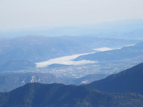 Blick vom Mangart nach Villach