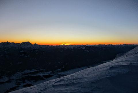 Dobratsch, Villacher Alpe, Julische Alpen, Schnee, Winter, Sonnenuntergang