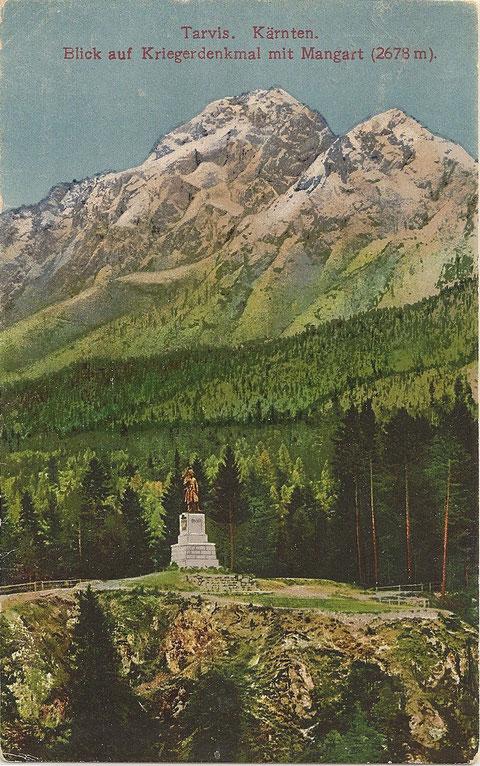 Schlitzaschlucht, Tarvis, Kriegerdenkmal, Mangart