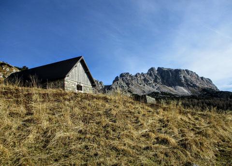 Trogkofel, Karnische Alpen, Alm, Hütte