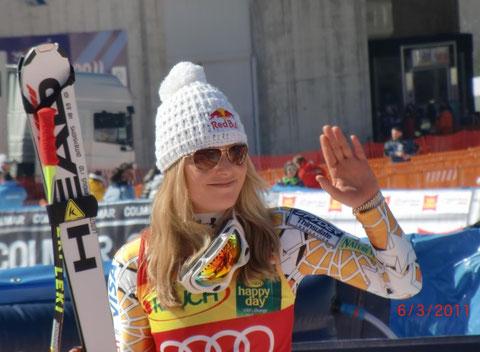 Die strahlende Siegerin Lindsey Vonn