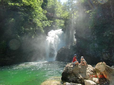 Wasserfall am Ende der Vintgarklamm