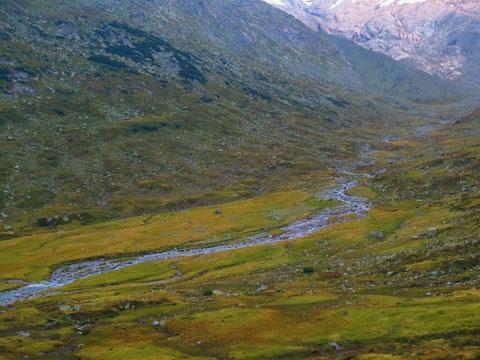 Der Großelendbach, gespeist von den Gletschern der Hochalmspitze