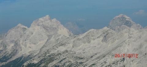 Julische Alpen, Mangart, Wischberg,Triglav, Montasch, Luschari, Julius Kugy