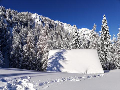 Schwarzkogel, Karawanken, Skitour, Schnee, Skitour