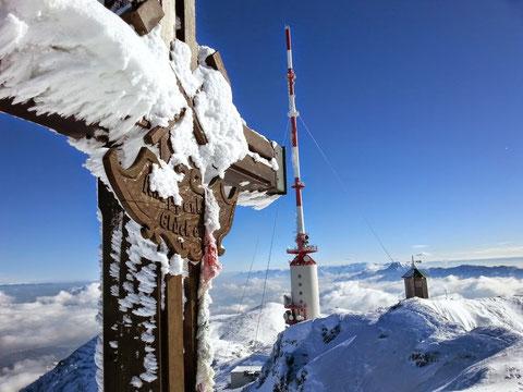Dobratsch, Villacher Alpe, Skitour, Schneeschuh, Heiligengeist, Gipfelhaus