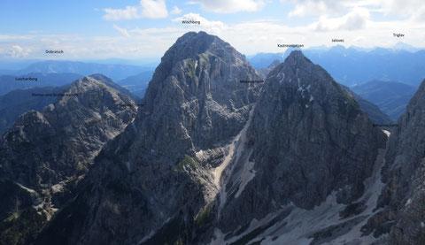 Blick vom Foronon del Buinz 2.531m zum Wischberg