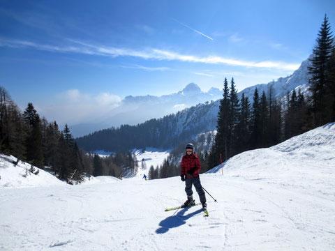 Julische Alpen, Wischberg, Montasch, Tarvis Skigebiet
