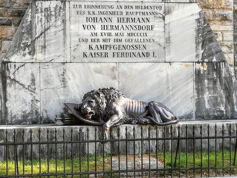 Das Hermann-Denkmal am Predil in Erinnerung an den Heldentod von Hauptmann Hermann von Hermannsdorf und seiner Kampfgenossen in den Franzosenkriegen 1809