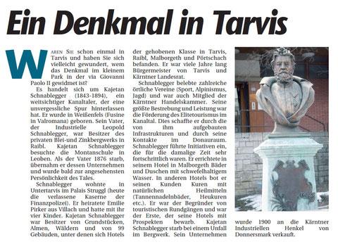 Biographie von Kajetan Schnablegger verfasst vom Kanaltaler Kulturverein