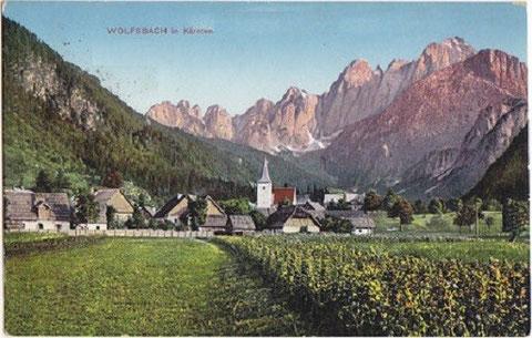 Historische Aufnahme als Wolfsbach noch zu Kärnten gehörte (1912)