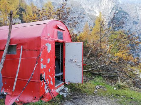 Bivacco Mazzeni, Seisera, Julische Alpen, Spranje