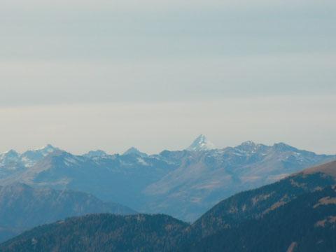 Die Sicht reicht am 26.Novemer 2011 sogar bis zum Großglockner 3.798m
