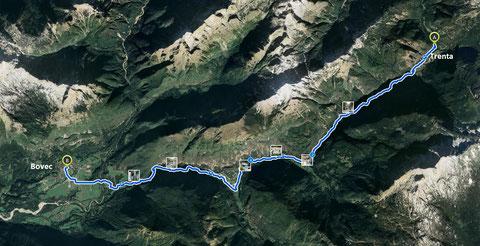 Soca, Fluß, Trenta, Alpe Adria Trail, Julische Alpen