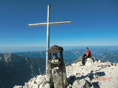 Am Gipfel des Montasch auf 2.754m
