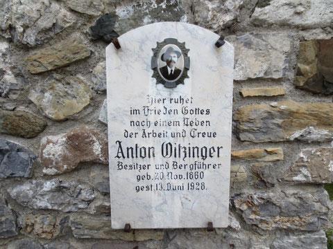 Anton Oitzinger, Julius Kugy, Wolfsbach, Valbruna
