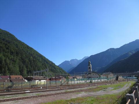 Der Bahnhof von Pontebba