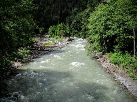 Gail, Wildwasser, Kanu, Lesachtal