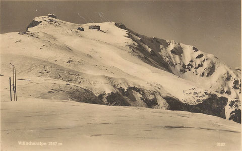 Dobratsch Gipfel im Winter 1913