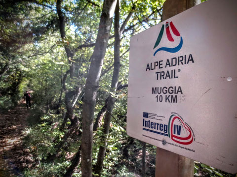 Alpe Adria Trail, Muggia, letzte Etappe, Wegweiser