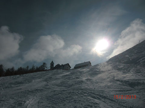 Luschariberg, Pilgerweg, Büßerweg, Skitour, Tarvis, Lussari, Winter