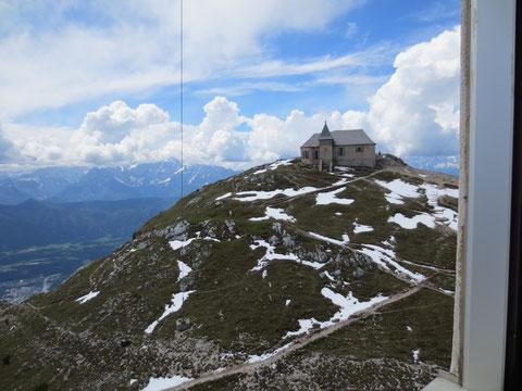 Die Dobratschkirche einmal aus anderer Perspektive - vom Sender aus gesehen
