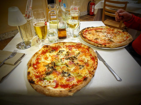 Zum Tagesausklang und Abschluß dieses herrlichen und ereignisreichen Tages gönnen wir uns eine wohlschmeckende Pizza im Ristorante Friuli in Tarvis
